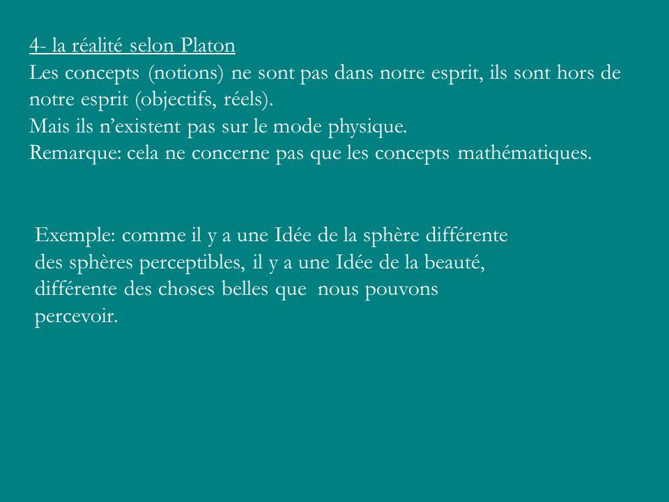 4- la réalité selon Platon