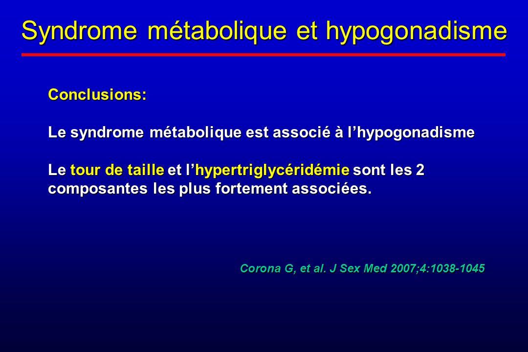 Syndrome métabolique et hypogonadisme