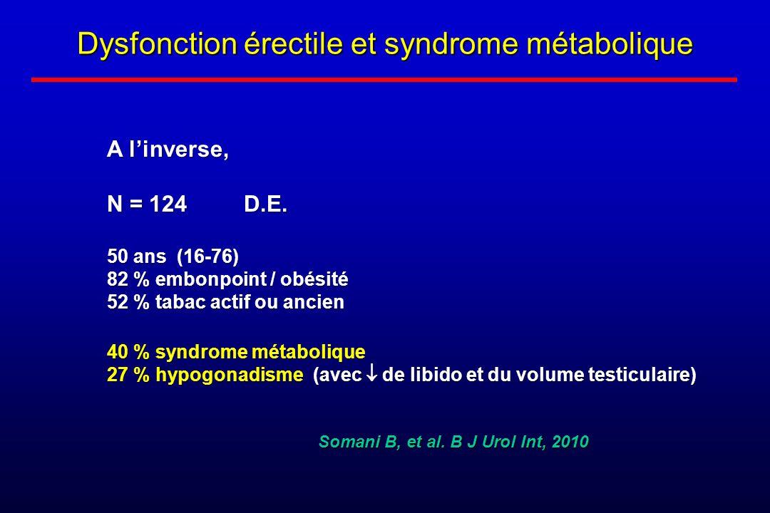 Dysfonction érectile et syndrome métabolique