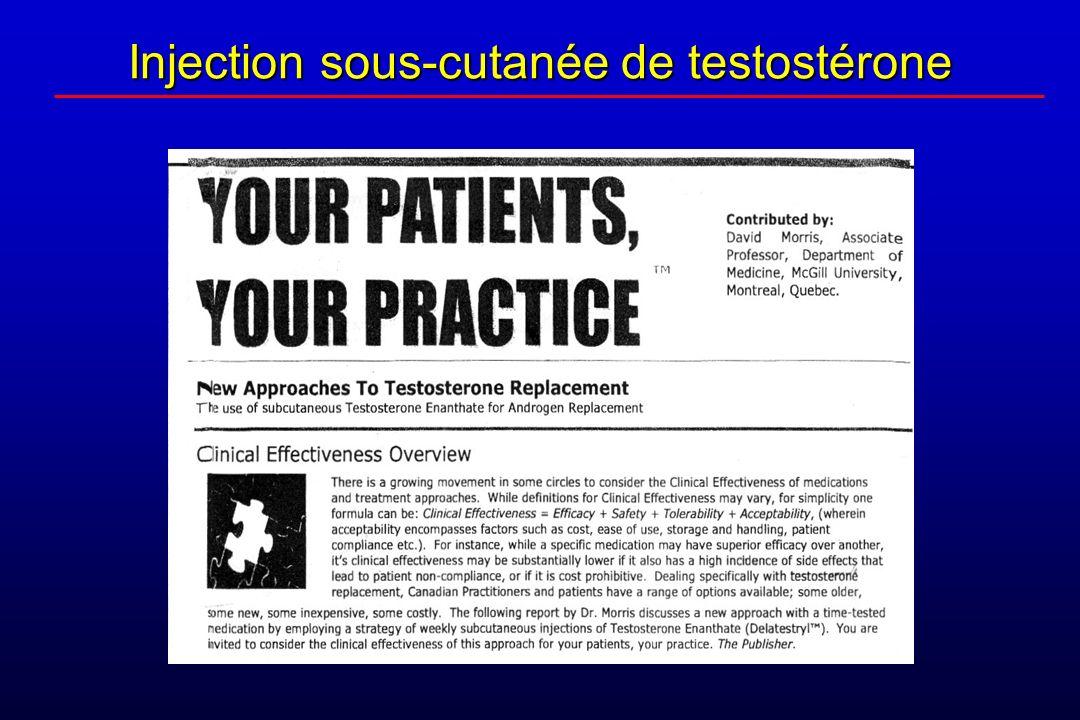 Injection sous-cutanée de testostérone