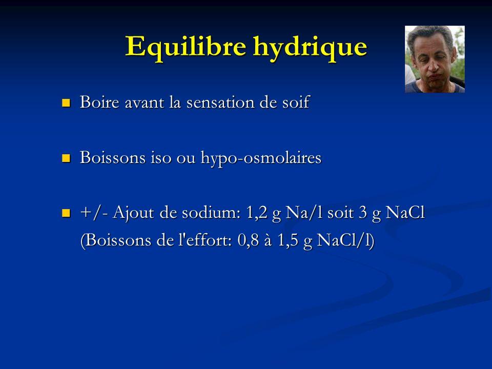 Equilibre hydrique Boire avant la sensation de soif