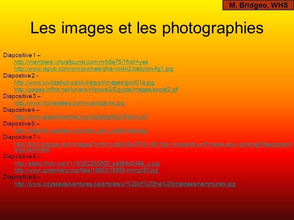 Les images et les photographies