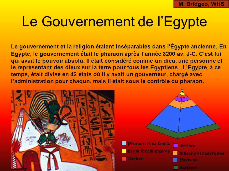 Le Gouvernement de l'Egypte