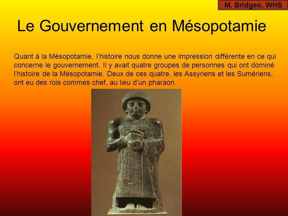 Le Gouvernement en Mésopotamie