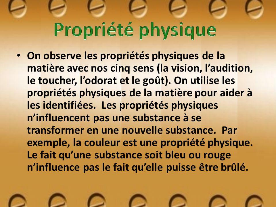Propriété physique