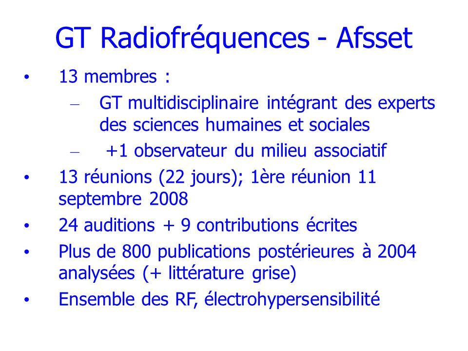 GT Radiofréquences - Afsset