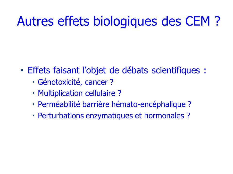 Autres effets biologiques des CEM
