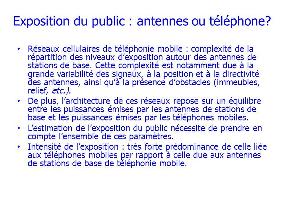 Exposition du public : antennes ou téléphone