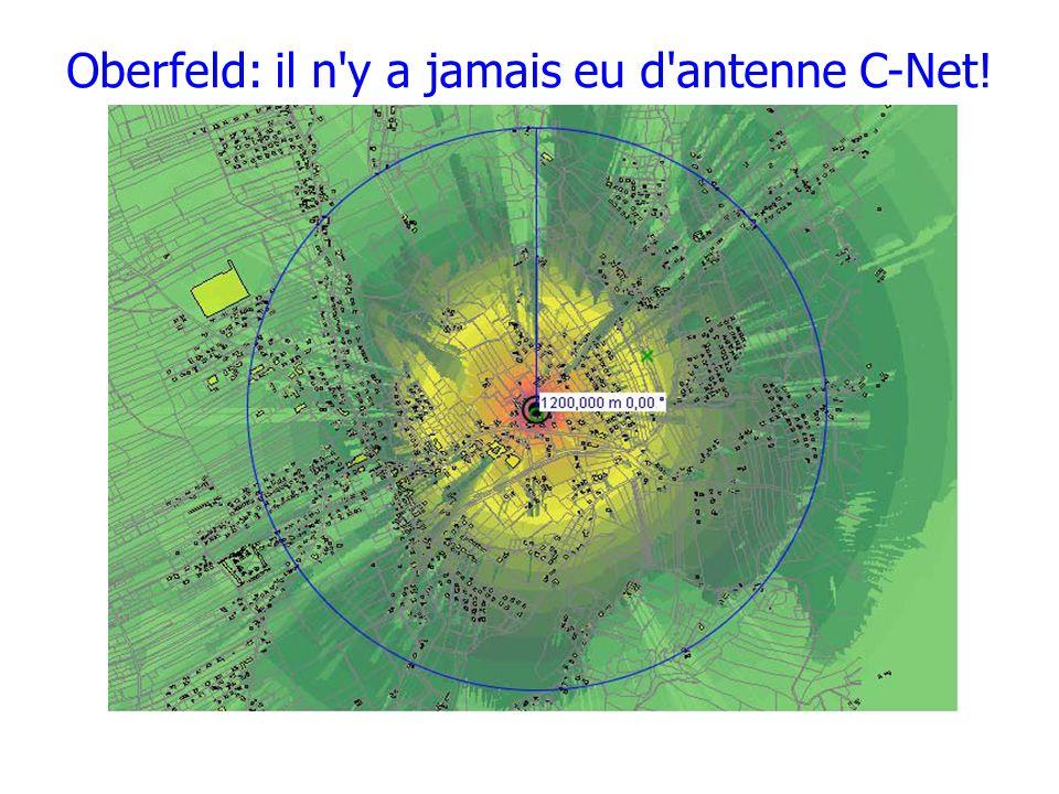 Oberfeld: il n y a jamais eu d antenne C-Net!