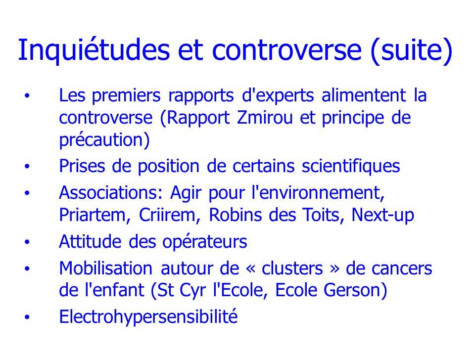 Inquiétudes et controverse (suite)