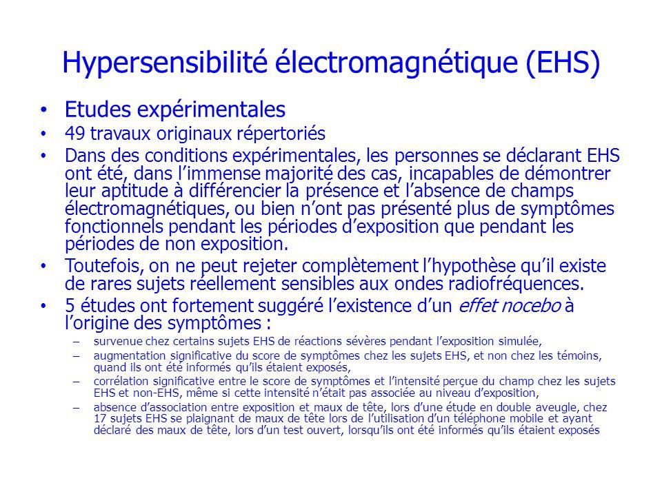 Hypersensibilité électromagnétique (EHS)