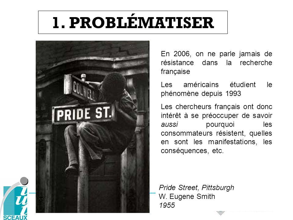 1. PROBLÉMATISEREn 2006, on ne parle jamais de résistance dans la recherche française. Les américains étudient le phénomène depuis 1993.