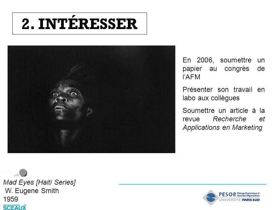 2. INTÉRESSER En 2006, soumettre un papier au congrès de l'AFM