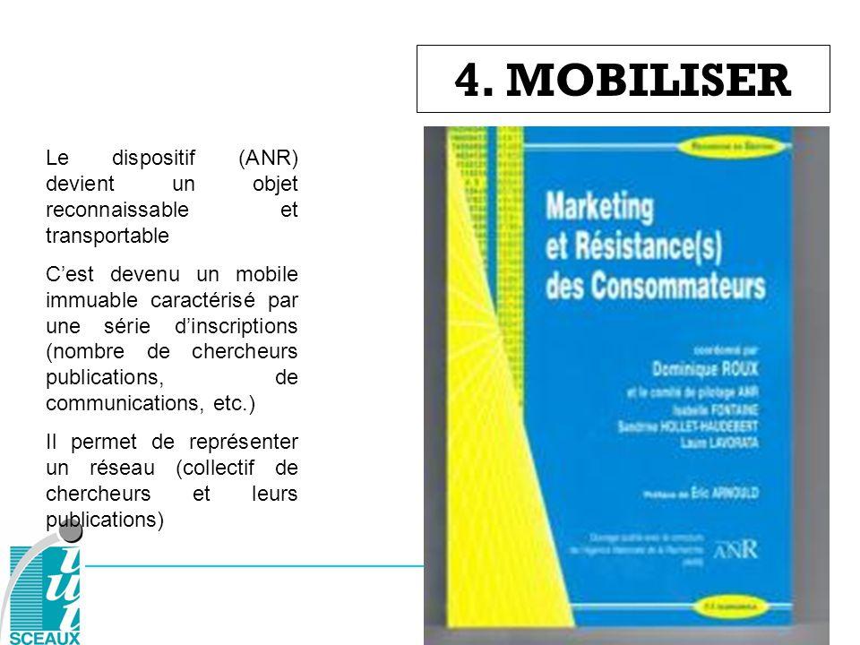 4. MOBILISER Le dispositif (ANR) devient un objet reconnaissable et transportable.