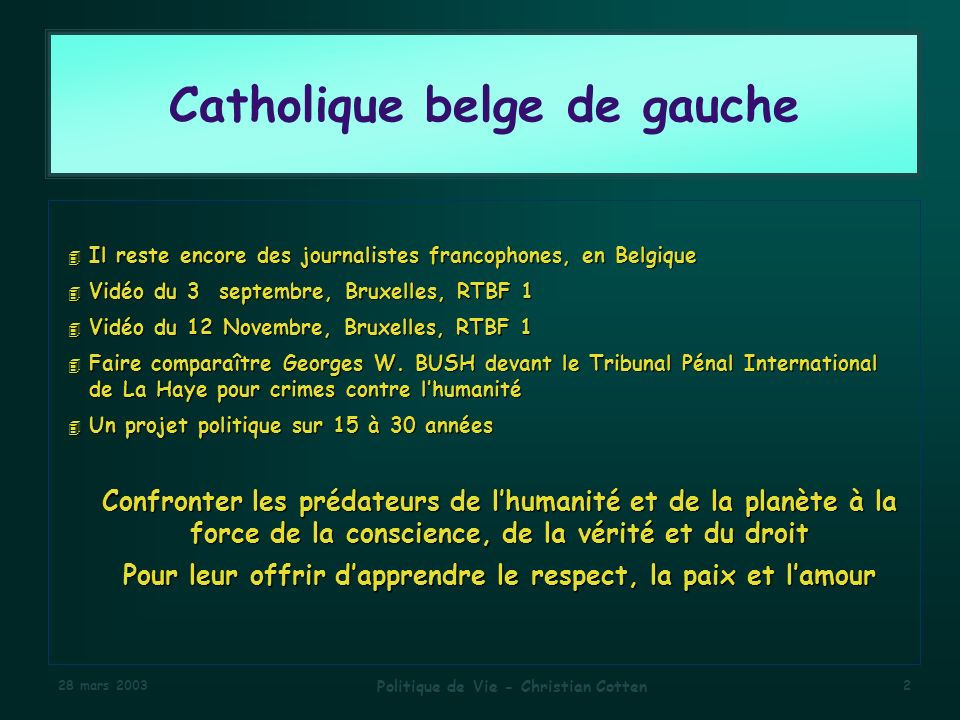 Catholique belge de gauche