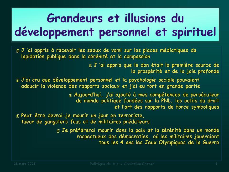 Grandeurs et illusions du développement personnel et spirituel