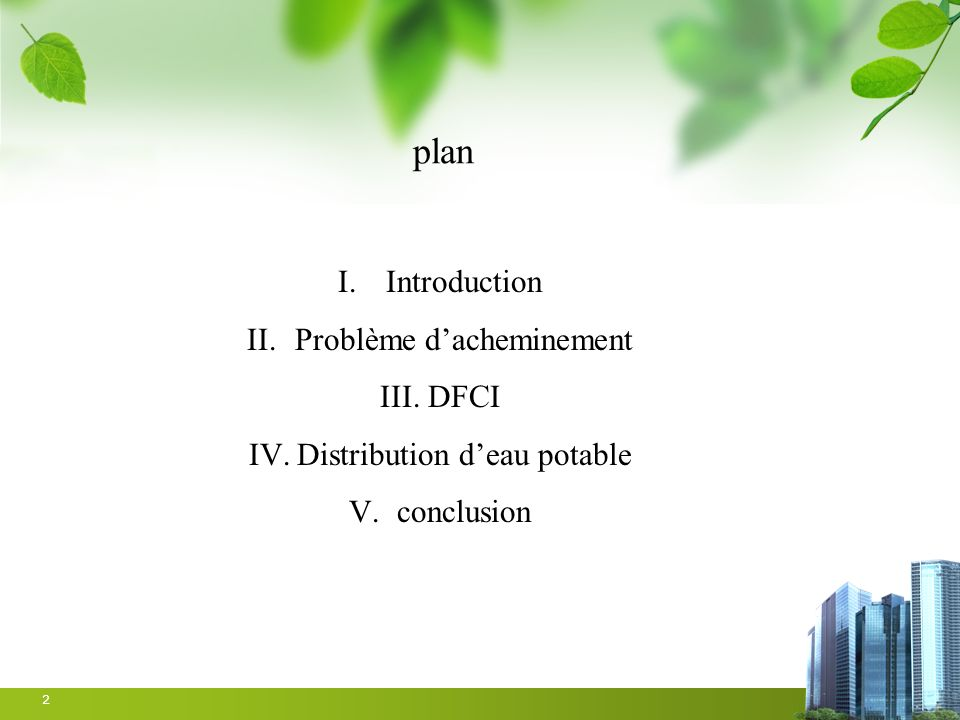 plan Introduction Problème d'acheminement DFCI
