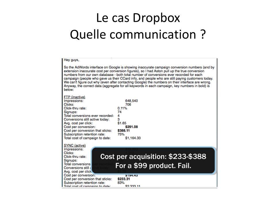Le cas Dropbox Quelle communication