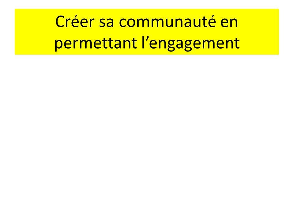 Créer sa communauté en permettant l'engagement