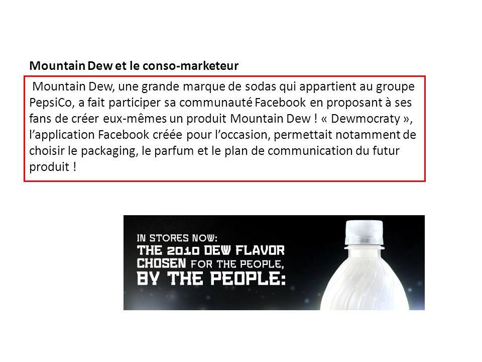 Mountain Dew et le conso-marketeur