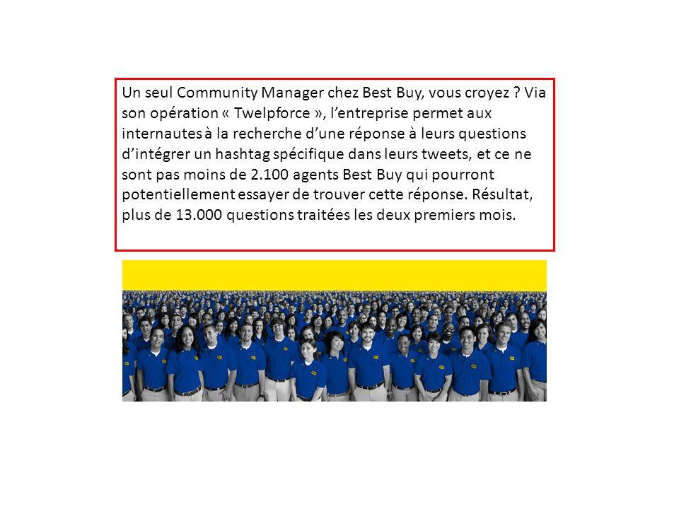 Un seul Community Manager chez Best Buy, vous croyez