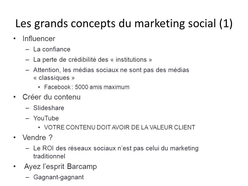 Les grands concepts du marketing social (1)