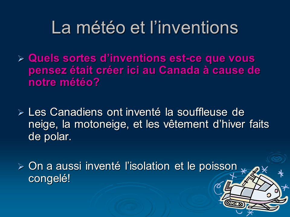 La météo et l'inventions