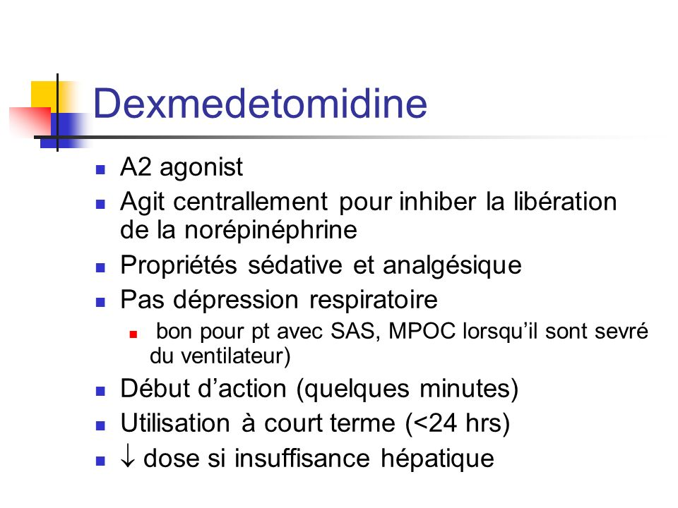 Dexmedetomidine A2 agonist