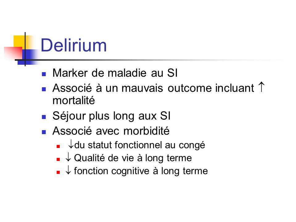 Delirium Marker de maladie au SI