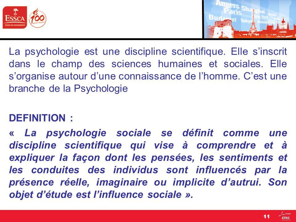 La psychologie est une discipline scientifique