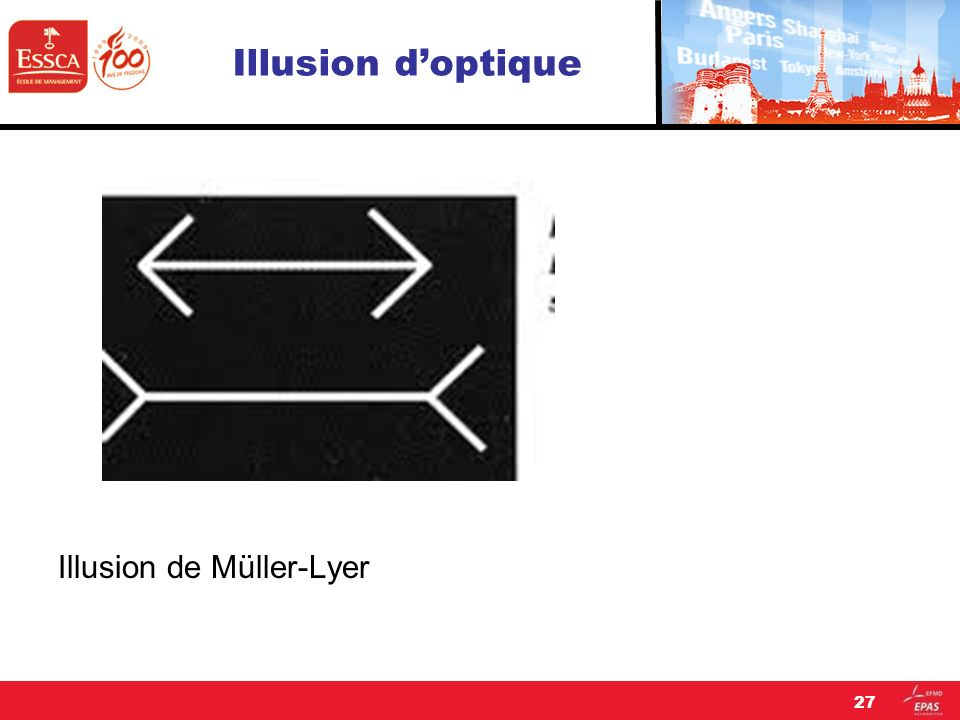 Illusion d'optique Illusion de Müller-Lyer