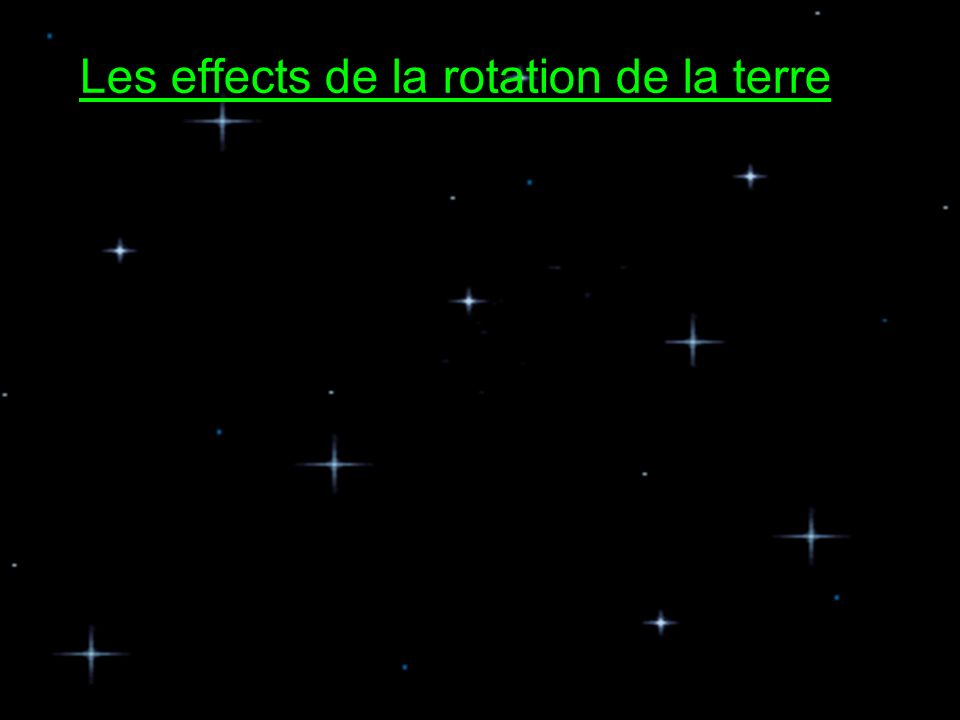 Les effects de la rotation de la terre