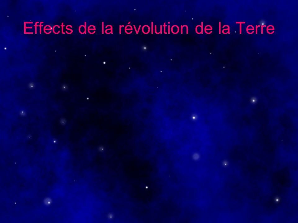 Effects de la révolution de la Terre