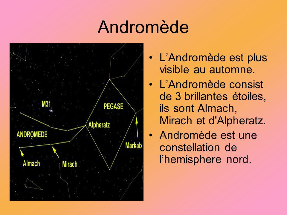 Andromède L'Andromède est plus visible au automne.