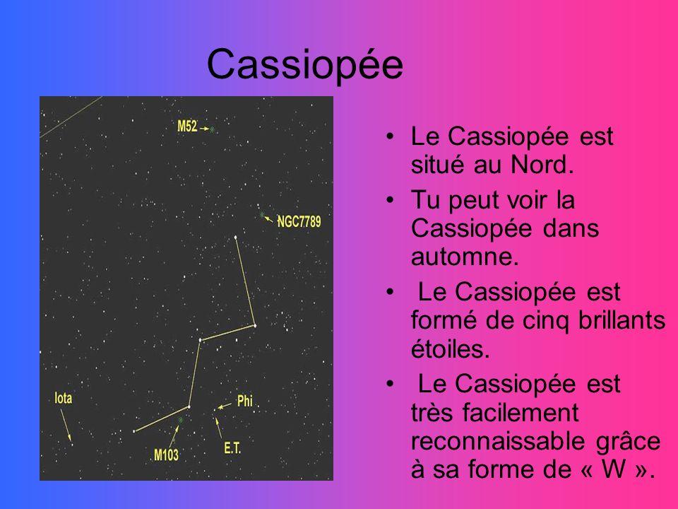 Cassiopée Le Cassiopée est situé au Nord.