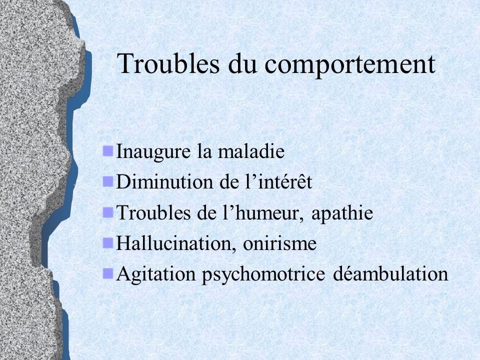 Troubles du comportement
