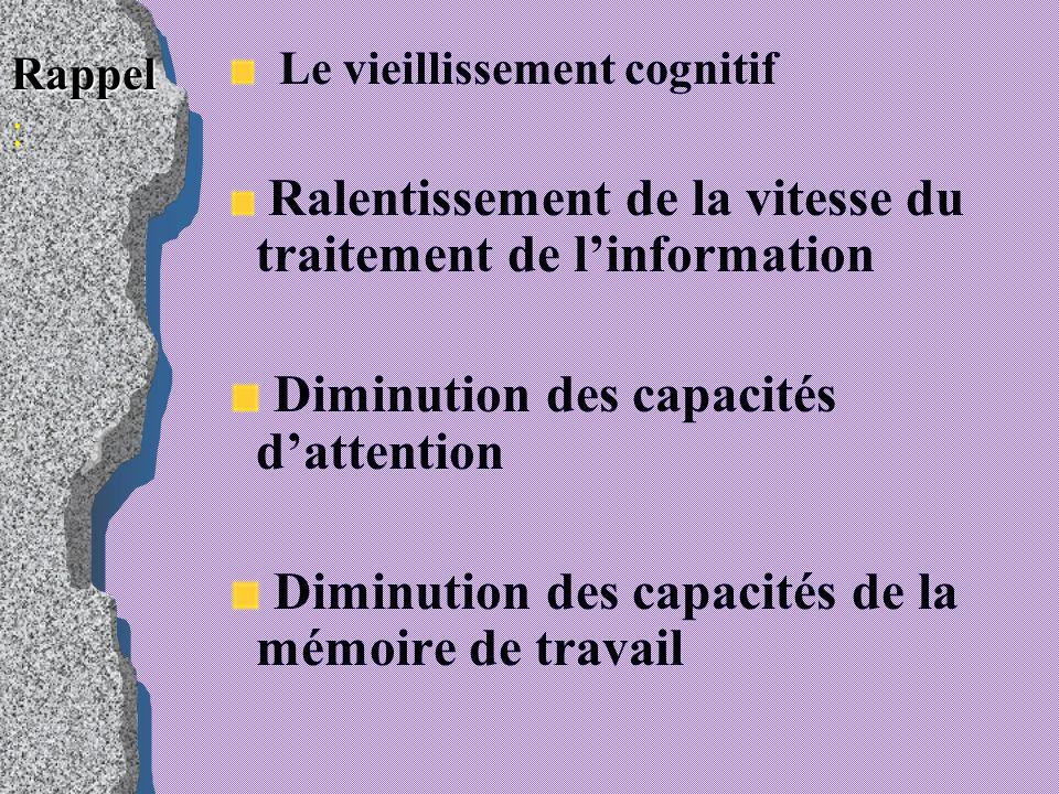 Diminution des capacités d'attention