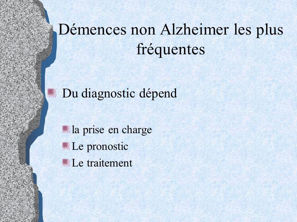 Démences non Alzheimer les plus fréquentes