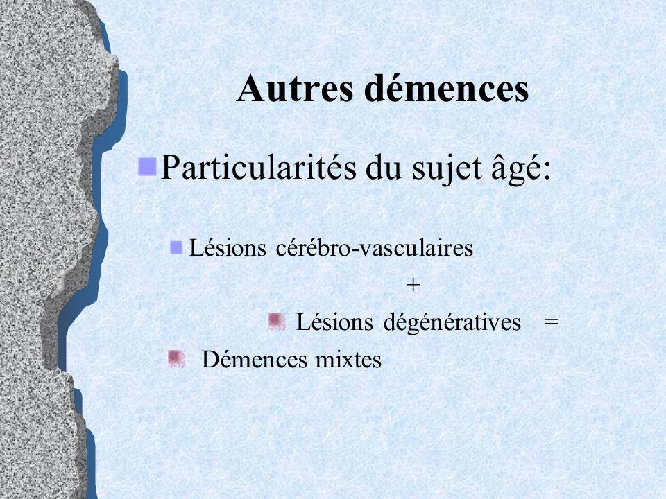 Lésions dégénératives =