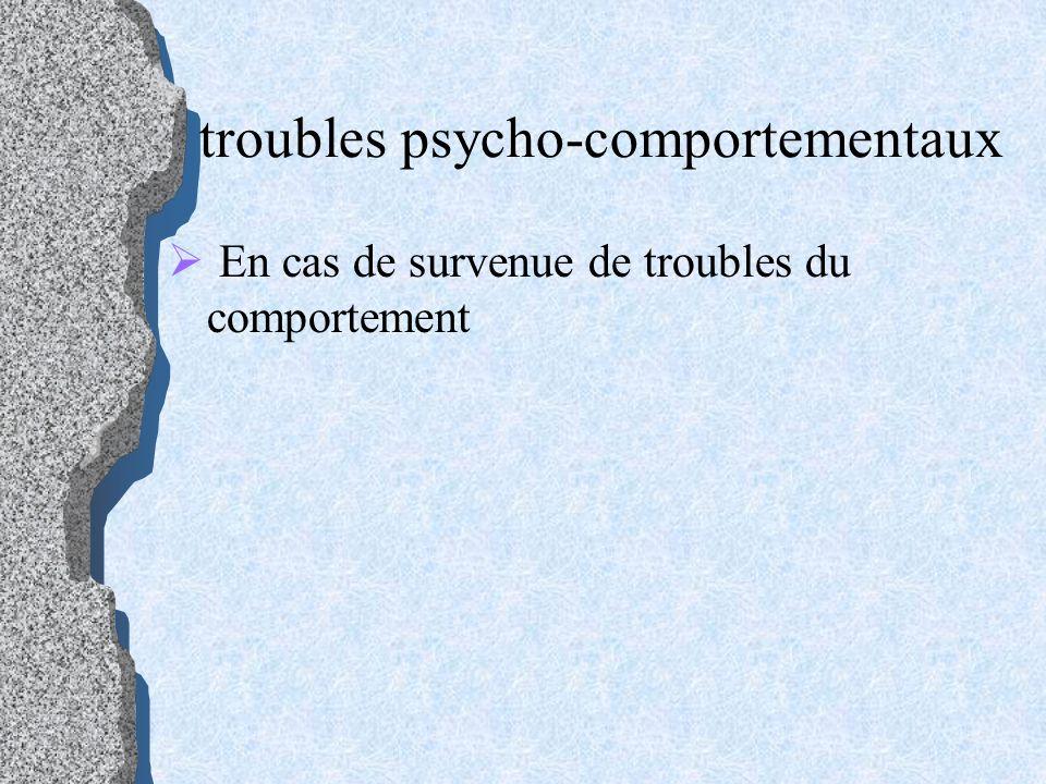 troubles psycho-comportementaux