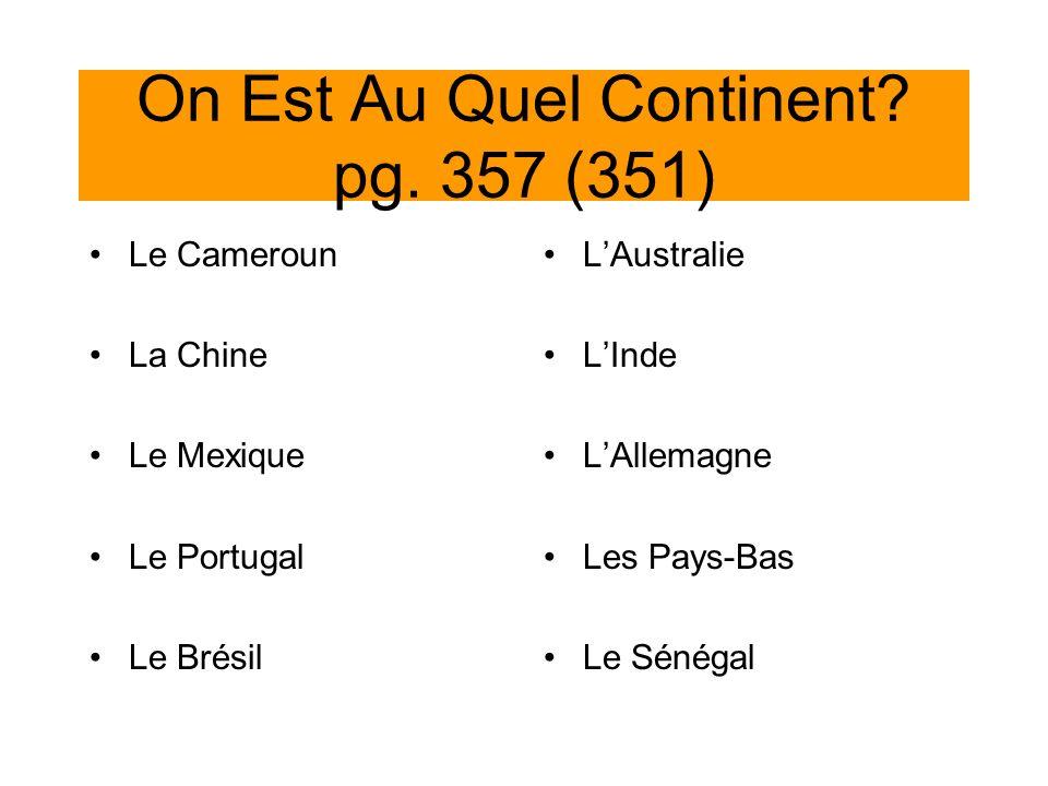 On Est Au Quel Continent pg. 357 (351)