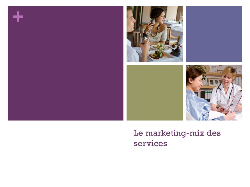Le marketing-mix des services