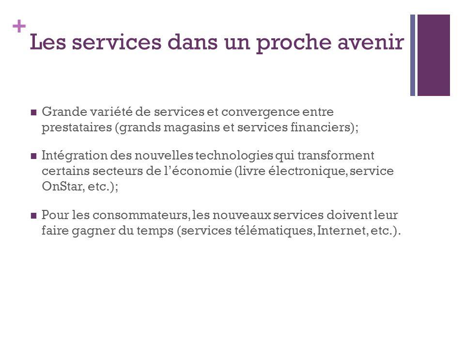Les services dans un proche avenir