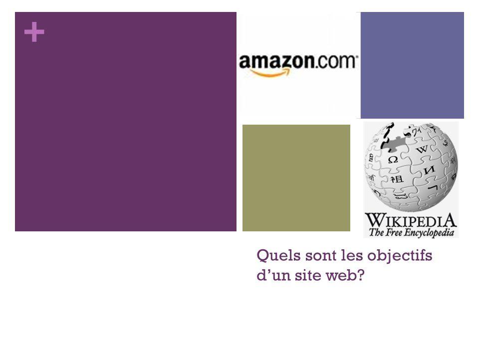 Quels sont les objectifs d'un site web