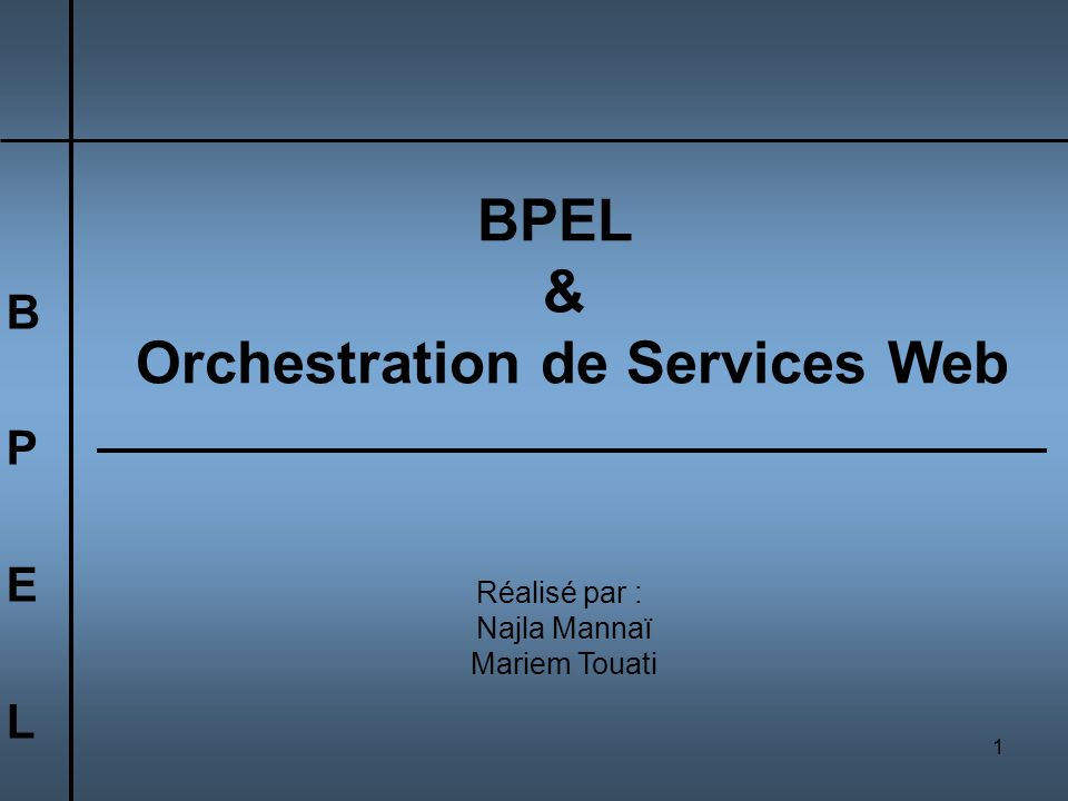 Orchestration de Services Web