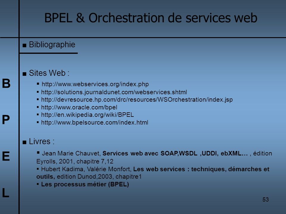 BPEL & Orchestration de services web