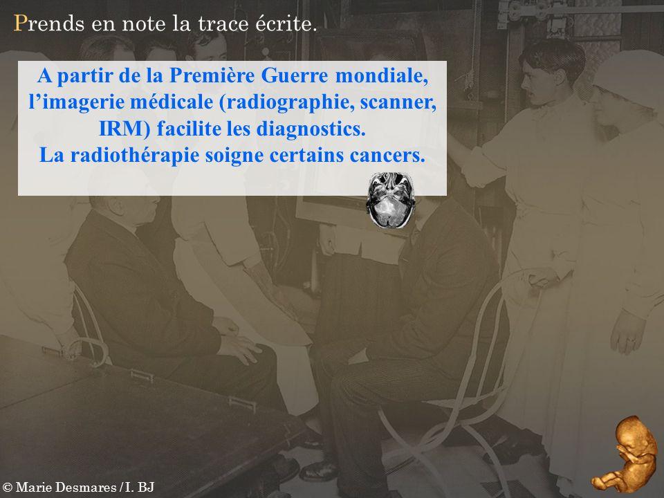 La radiothérapie soigne certains cancers.