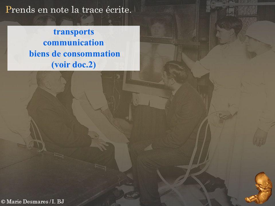 transports communication biens de consommation (voir doc.2)