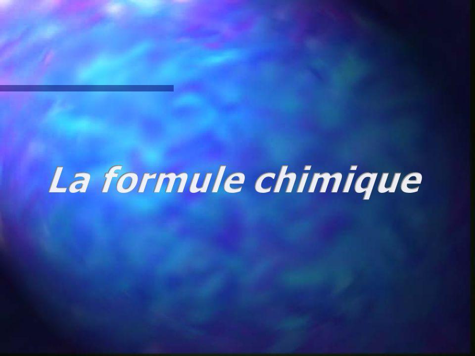 La formule chimique