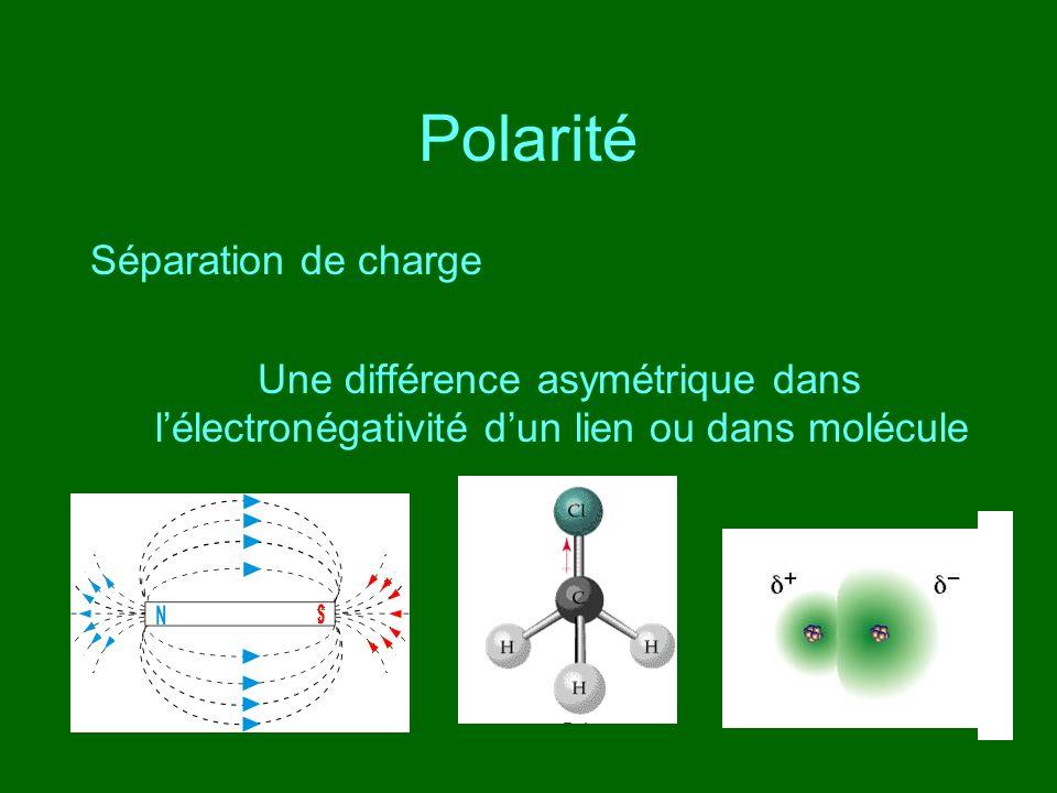 Polarité Séparation de charge